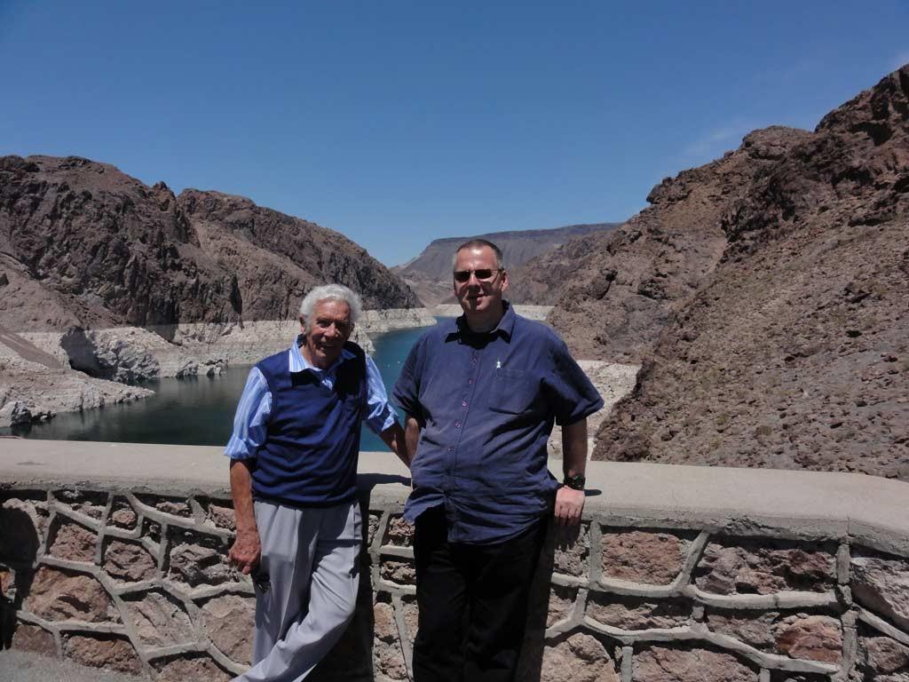 Thomas und Werner Greve am Hoover Damm