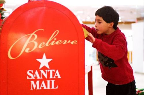Santa letters for Addison to deliver to help MAKE-A-WISH